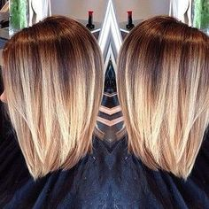 Balayage a French word has the meaning of revenge, whisking. When the hair colorist colors by balayage most horizontal brush strokes. Love Hair, Great Hair, Gorgeous Hair, Corte Y Color, Hair Color And Cut, Hair Day, Pretty Hairstyles, Bob Hairstyles, Hairstyle Ideas