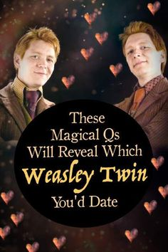 Quiz: Answer These Magical Qs & We'll Reveal Which Weasley Twin You'd Date, Quiz: Answer These Magical Qs & We'll Reveal Which Weasley Twin You'd Date HP Quiz: This Harry Potter personality quiz will determine if you should da. Harry Potter Imagines, Harry Potter Quiz, Harry Potter Ships, Fred Und George Weasley, Hp Quiz, Phelps Twins, Weasley Twins, Fun Quizzes, Ravenclaw