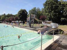 Wasserrutsche im Waldschwimmbad Steinbachtalsperre #Euskirchen http://www.ausflugsziele-nrw.net/steinbachtalsperre-euskirchen/
