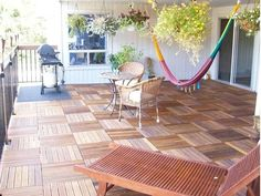 Wooden decking DÉCOTILES by Déco - The Italian Decking Company