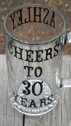 Personalized 30th Anniversary Beer and Wine Glass by JayniesCloset