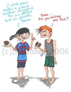 Edd: Un panecillo de grano entero es una alternativa mucho más saludable para un atleta como tú Kevin. / Kevin: Bebé¿Me estás llamando gordo? /// Kevedd *0*