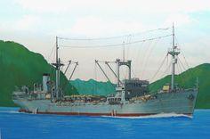 Buque de desembarco Tatsufuku Maru, hundido por submarino USS Seal en el Estrecho de Balabac 1942