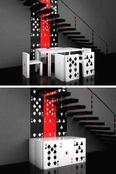 Alice in Wonderland Furniture - For Poker lovers!