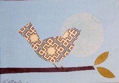 I love this patterned birdie.