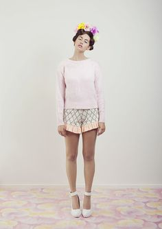 Knitted Jumper – WND.LND First Down, I Scream, Waffle Knit, Knit Patterns, Your Skin, Collars, Harajuku, Jumper, Knitting