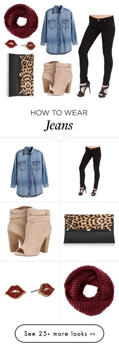 """""""Bullet Blues Fall Uniform: Scarf + Black Skinny Jeans 3"""" by bulletblues on Polyvore featuring H&M, Chinese Laundry, Diane Von Furstenberg, TOMS and Kate Spade"""