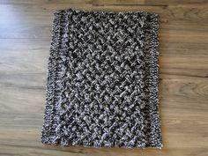 Basket weave rug by fuzzbuttfarms on Etsy