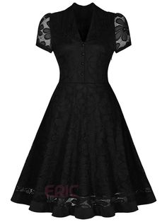 Ericdress Solid Color Single-Breasted Short Sleeve Casual Dress Casual Dresses