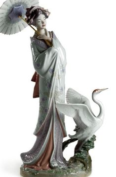 """Japanese Portrait"" ~ Lladró  Porcelain Figurine #01008253 ~ Sculptor: Miguel Angel Santaeulalia 2007"