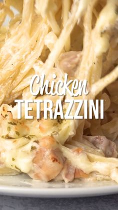 Chicken Tetrazzini - super delicious make-ahead casserole! Makes a great freezer meal! Chicken, linguine, cream of chicken soup, cream of mush… [Video] Easy Casserole Recipes, Casserole Dishes, Bean Casserole, Cream Of Chicken Soup, Butter Chicken, Ritz Chicken, Chicken Bacon, Chicken With Mushroom Soup, Chicken Stuffed Shells