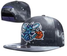 Casquette NBA New Orleans Hornets Galaxy Snapback Gris : Casquette Pas Cher