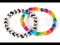 ▶ How to make a Classic Single Double Rainbow Loom Bracelet - YouTube