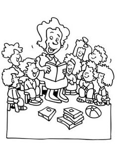 Teachers And Kids Coloring Pages