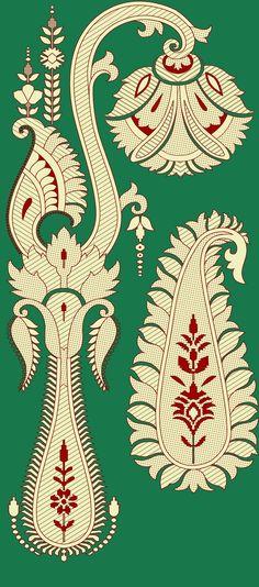 Digital Data, Quirky Art, Gold Embroidery, Album Design, Floral Border, Byzantine, Motifs, Pattern Art, Textile Design