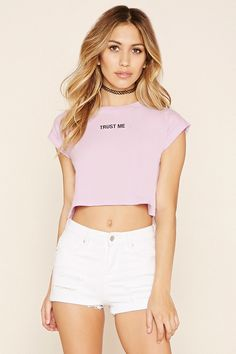 Trust Me Graphic Crop Top | Forever 21 - 2000205549