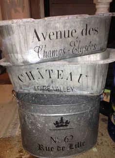 French Inspired Zinc Containers! DIY...See thefrenchinspiredroom.com: