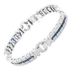 Coast Sapphire Diamond Gold Bracelet - $4.500