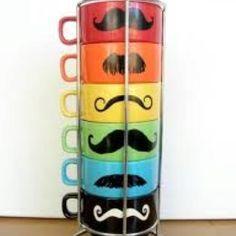 Mustache coffee yum