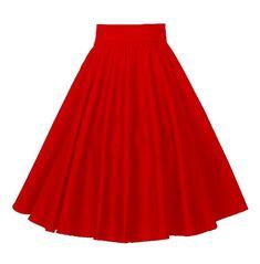 Red High Waisted Skirt, Pleated Midi Skirt, High Waist Skirt, Midi Flare Skirt, Red Skirts, Summer Skirts, Women's Skirts, Look Rockabilly, Rockabilly Clothing