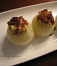 Stuffed Onions with Goat Cheese and Bacon