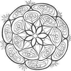 Top Mandalas Gratuits - Mandala Fleurs Boule - Mandalas à imprimer, mandalas à colorier, mandalas à télécharger gratuitement, mandalas pour adultes et pour enfants
