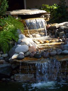 My ponds waterfall