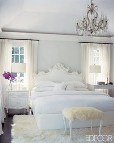 Love This Master Bedroom Decor, So Pretty Inspiration For The Bedrooms  Beautiful Bedroom A Pretty, Organized Desk {love The Gold Accents} Be.