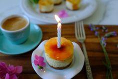 CAKE ON THE BRAIN: Upon Her Turning 12: Mini Crême Brûlée Birthday Cheesecakes (gluten free)