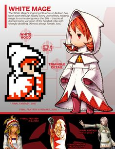 Final Fantasy: A Visual History of the Warriors of Light - IGN. #final_fantasy #white_mage
