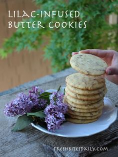 A lilac-infused butter cookie