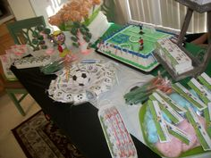 Soccer world cup birthday party Candy bar
