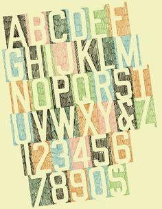hand drawn typography by Tim Degner, via Flickr