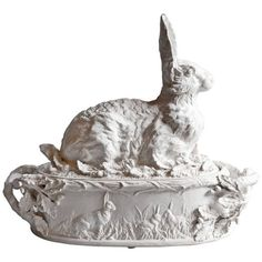 Shop delft and faience and other dining, serveware and glass from the world's best furniture dealers. French Decor, French Country Decorating, Porcelain Ceramics, Ceramic Pottery, Rabbit Art, Bunny Art, Vintage Easter, Antique Metal, Vintage Pottery
