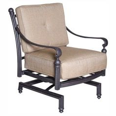 paradise cove designs balboa aluminum spring outdoor lounge chair with optional cushions 8014469nc