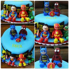 The Avengers & Justice League unite! My superheroes cake.  www.facebook.com/GracieliciousBakeshop
