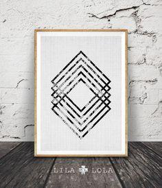 Modern Minimal Wall Art, Black and White Print, Abstract Art, Geometric Decor, Printable Instant D. Tape Art, Black And White Wall Art, Black And White Abstract, Black White, White Style, Kunst Party, Arte Linear, Geometric Decor, Geometric Shapes