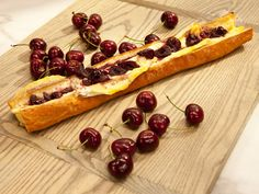Get this all-star, easy-to-follow Baguette Stuffed with Brie and Cherries recipe from The Kitchen