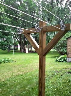String Lights Outdoor Diy - New ideas Outdoor Projects, Garden Projects, Outdoor Clothes Lines, Outdoor Laundry Lines, Clothes Drying Racks, String Lights Outdoor, Outdoor Living, Outdoor Decor, Outdoor Life