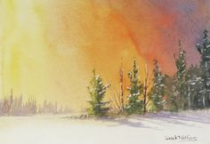 Modern impressionistic watercolor.