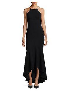 Xscape Hi-Lo Halterneck Gown