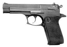 """SPECIFICATIONS: Star Bonifacio Echeverria, S.A. Model 30-M  Caliber: 9mm Luger Action: Single / Double Action Capacity: 15 + 1 Barrel Length: 4.33"""" Overall Length: 8.07"""" Length of Pull: .098"""" (single action), .472"""" (double action) Weight: 40.24oz unloaded (2.5 lbs) Country of Origin: Spain  Importer: Interarms of Alexandria, VA. Price: When they come up for sale, usually seen around $200 – $300. <3"""