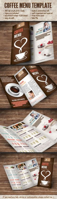 Elegant Coffee Menu Template - Food Menus Print Templates Download here: https://graphicriver.net/item/elegant-coffee-menu-template/6317302?ref=alena994