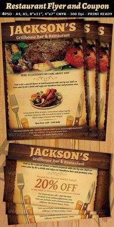 GraphicRiver Restaurant-Bar Magazine Ad or Flyer Template V2
