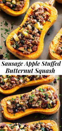 Whole 30 Recipes, Fall Recipes, Dinner Recipes, Weekly Recipes, Acorn Squash Recipes, Stuffed Squash Recipes, Healthy Butternut Squash Recipes, Weight Watcher Acorn Squash Recipe, Yellow Squash Recipes