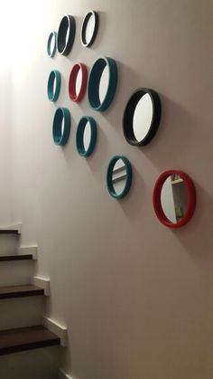 Staircase mirrors