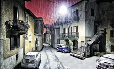 Montestrutto, 눈, 모네 피에몬테, 이탈리아, 겨울