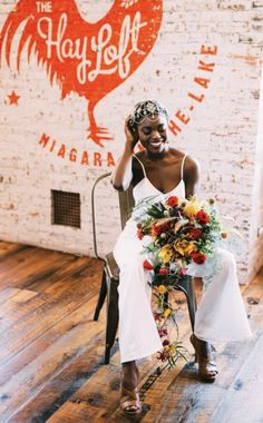 Gorgeous Niagara Oast House Brewers' bride posed in the wedding venue space, The Hayloft. The cement, eco-friendly, boho inspired decor complimented the rustic, barn atmosphere of the Oast event space. Bride Poses, Rustic Barn, Cement, Brewery, Compliments, Eco Friendly, Wedding Venues, White Dress, Let It Be