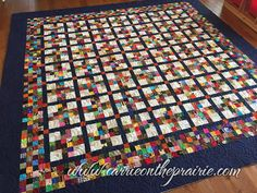 Here's a fun, yet traditional quilt. Full of scraps from past projects, this quilt will be a love-filled gift for Fran's granddaughter, who . Scrappy Quilt Patterns, Jellyroll Quilts, Scrappy Quilts, Quilt Blocks, Small Quilt Projects, Quilting Projects, Quilting Designs, Colorful Quilts, Small Quilts