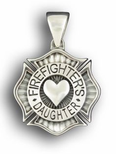 Firefighter's Daughter Sterling Silver Pendant for Natalie Firefighter Family, Volunteer Firefighter, Firefighter Tattoos, Firefighters Wife, Firefighter Pictures, Firefighter Decor, Firemen, Best Tattoo Designs, Tattoos For Daughters